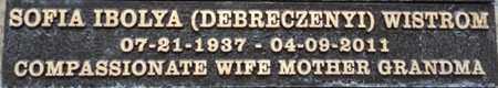 DEBRECZENYI WISTROM, SOFIA - Los Angeles County, California | SOFIA DEBRECZENYI WISTROM - California Gravestone Photos