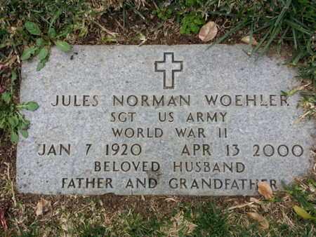 WOEHLER, JULES NORMAN - Los Angeles County, California   JULES NORMAN WOEHLER - California Gravestone Photos