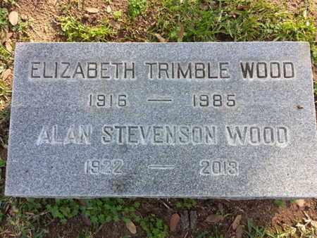 TRIMBLE WOOD, ELIZABETH - Los Angeles County, California | ELIZABETH TRIMBLE WOOD - California Gravestone Photos