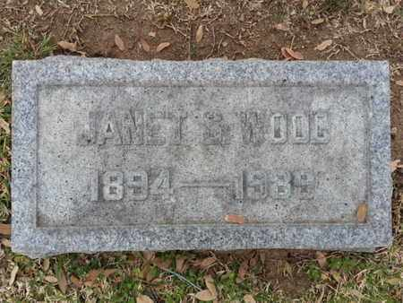 WOOD, JANET S - Los Angeles County, California | JANET S WOOD - California Gravestone Photos