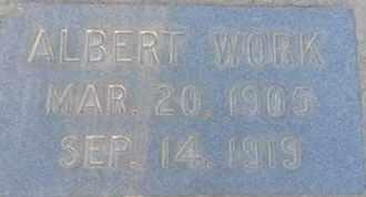 WORK, ALBERT - Los Angeles County, California   ALBERT WORK - California Gravestone Photos