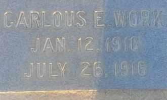 WORK, CARLOUS - Los Angeles County, California | CARLOUS WORK - California Gravestone Photos