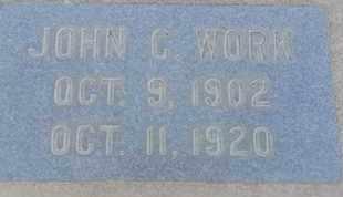 WORK, JOHN - Los Angeles County, California | JOHN WORK - California Gravestone Photos