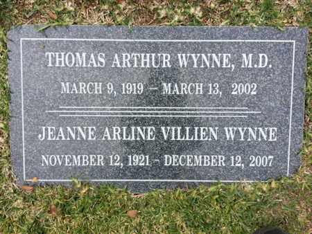 WYNNE, MD, THOMAS ARTHUR - Los Angeles County, California | THOMAS ARTHUR WYNNE, MD - California Gravestone Photos