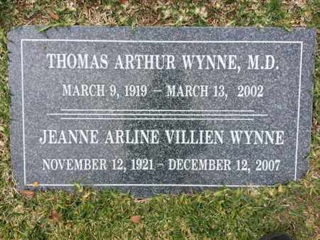 WYNNE, MD, THOMAS ARTHUR - Los Angeles County, California | THOMAS ARTHUR WYNNE, MD - California Gravestone Photos