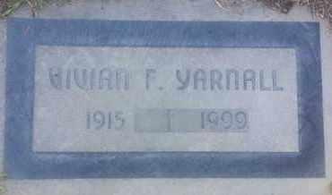 YARNALL, VIVIAN - Los Angeles County, California | VIVIAN YARNALL - California Gravestone Photos