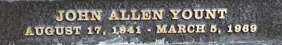 YOUNT, JOHN ALLEN - Los Angeles County, California | JOHN ALLEN YOUNT - California Gravestone Photos