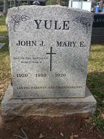 YULE, MARY E. - Los Angeles County, California   MARY E. YULE - California Gravestone Photos
