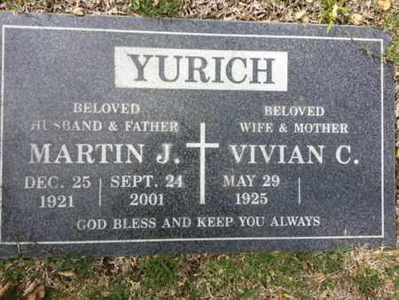 YURICH, MARTIN J. - Los Angeles County, California | MARTIN J. YURICH - California Gravestone Photos