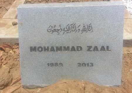 ZAAL, MOHAMMAD - Los Angeles County, California   MOHAMMAD ZAAL - California Gravestone Photos
