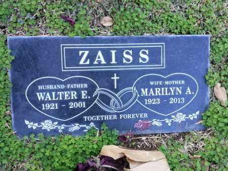 ZAISS, WALTER E. - Los Angeles County, California | WALTER E. ZAISS - California Gravestone Photos