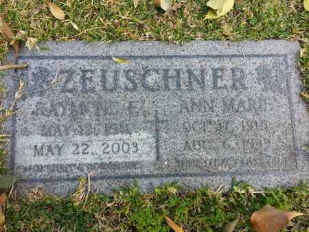 ZEUSCHNER, RAYMOND F. - Los Angeles County, California | RAYMOND F. ZEUSCHNER - California Gravestone Photos