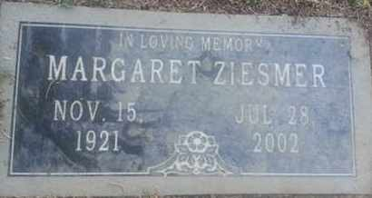 ZIESMER, MARGARET - Los Angeles County, California   MARGARET ZIESMER - California Gravestone Photos