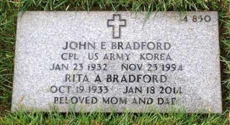 BRADFORD, JOHN EUGENE - Merced County, California | JOHN EUGENE BRADFORD - California Gravestone Photos