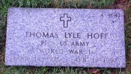 HOFF, THOMAS LYLE - Merced County, California   THOMAS LYLE HOFF - California Gravestone Photos