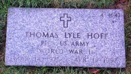 HOFF, THOMAS LYLE - Merced County, California | THOMAS LYLE HOFF - California Gravestone Photos