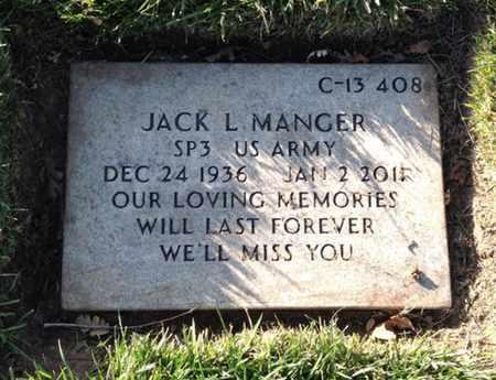 MANGER, JACK LEROY - Merced County, California | JACK LEROY MANGER - California Gravestone Photos