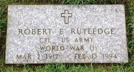 RUTLEDGE, ROBERT E. - Merced County, California | ROBERT E. RUTLEDGE - California Gravestone Photos