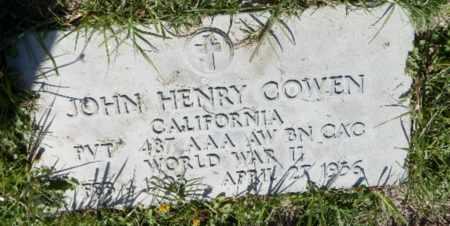 COWEN, JOHN - Orange County, California | JOHN COWEN - California Gravestone Photos