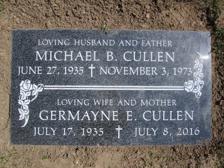 CULLEN, GERMAYNE - Orange County, California | GERMAYNE CULLEN - California Gravestone Photos