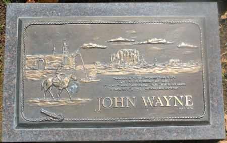 WAYNE, JOHN  (ACTOR) - Orange County, California | JOHN  (ACTOR) WAYNE - California Gravestone Photos