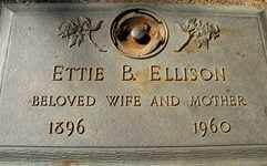 ELLISON, ETTIE - Placer County, California | ETTIE ELLISON - California Gravestone Photos
