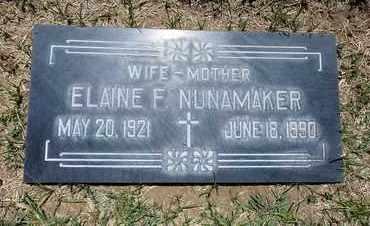 NUNAMAKER, ELAINE - Riverside County, California   ELAINE NUNAMAKER - California Gravestone Photos