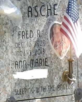 ASCHE, FRED R - Sacramento County, California | FRED R ASCHE - California Gravestone Photos