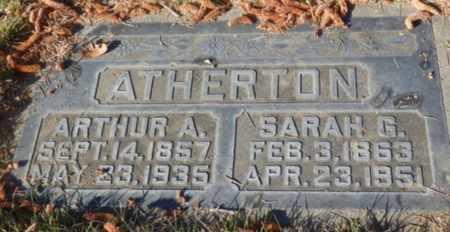 ATHERTON, SARAH - Sacramento County, California | SARAH ATHERTON - California Gravestone Photos