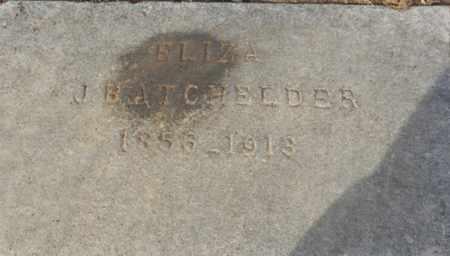 MORRIS BATCHELDER, ELIZA - Sacramento County, California | ELIZA MORRIS BATCHELDER - California Gravestone Photos