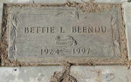 BLENDU, BETTIE L - Sacramento County, California | BETTIE L BLENDU - California Gravestone Photos