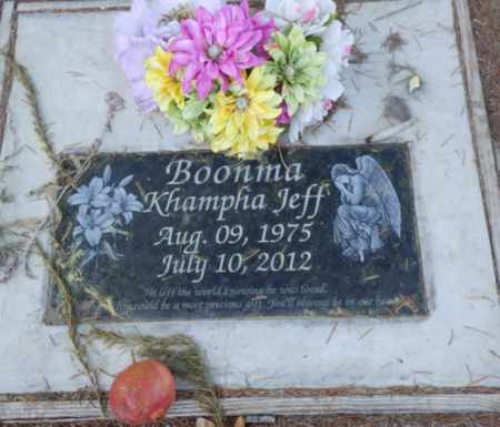 BOONMA, KHAMPFIA JEFF - Sacramento County, California | KHAMPFIA JEFF BOONMA - California Gravestone Photos