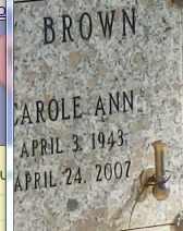 BROWN, CAROLE - Sacramento County, California   CAROLE BROWN - California Gravestone Photos
