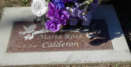 CALDERON, MARIA ROSA - Sacramento County, California   MARIA ROSA CALDERON - California Gravestone Photos