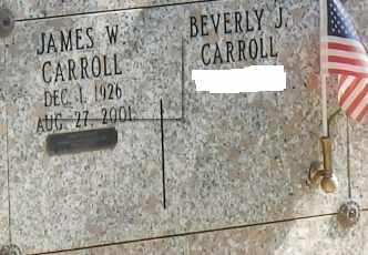 CARROLL, JAMES W - Sacramento County, California | JAMES W CARROLL - California Gravestone Photos