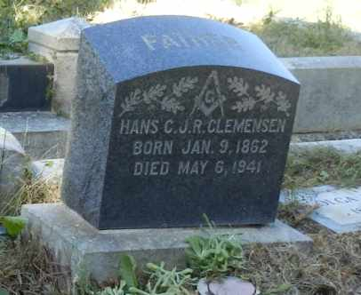 CLEMENSEN, HANS - Sacramento County, California   HANS CLEMENSEN - California Gravestone Photos