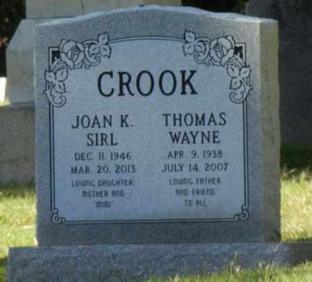 SIRL CROOK, JOAN - Sacramento County, California | JOAN SIRL CROOK - California Gravestone Photos