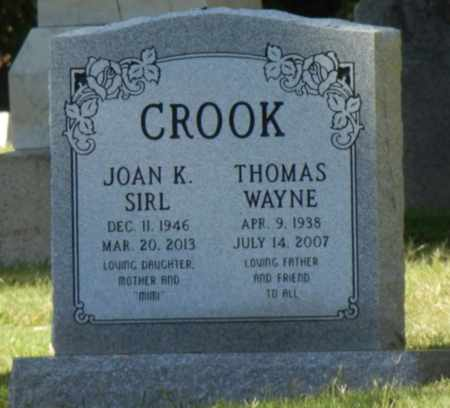 SIRL CROOK, JOAN - Sacramento County, California | JOAN SIRL CROOK - California Gravestone Photos