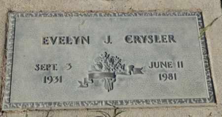 CRYSLER, EVELYN J. - Sacramento County, California | EVELYN J. CRYSLER - California Gravestone Photos