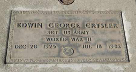 CRYSLER, EDWIN GEORGE - Sacramento County, California | EDWIN GEORGE CRYSLER - California Gravestone Photos