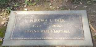 DIER, NORMA L - Sacramento County, California | NORMA L DIER - California Gravestone Photos