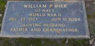 DIER, WILLIAM P - Sacramento County, California | WILLIAM P DIER - California Gravestone Photos