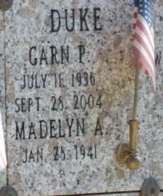 DUKE, GARN - Sacramento County, California | GARN DUKE - California Gravestone Photos