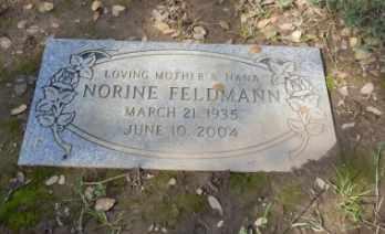 FELDMANN, NORINE - Sacramento County, California   NORINE FELDMANN - California Gravestone Photos