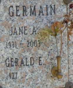GERMAIN, JANE - Sacramento County, California   JANE GERMAIN - California Gravestone Photos