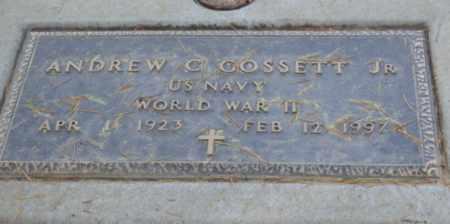 GOSSETT, ANDREW C - Sacramento County, California   ANDREW C GOSSETT - California Gravestone Photos