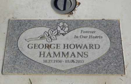 HAMMANS, GEORGE HOWARD - Sacramento County, California   GEORGE HOWARD HAMMANS - California Gravestone Photos