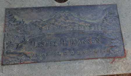 HANSON, LESTER B - Sacramento County, California | LESTER B HANSON - California Gravestone Photos