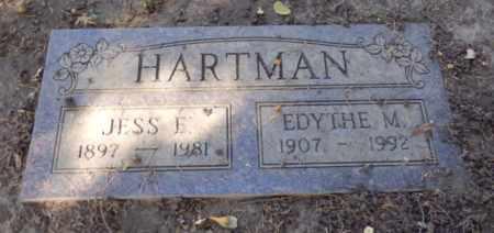 HARTMAN, JESS - Sacramento County, California   JESS HARTMAN - California Gravestone Photos