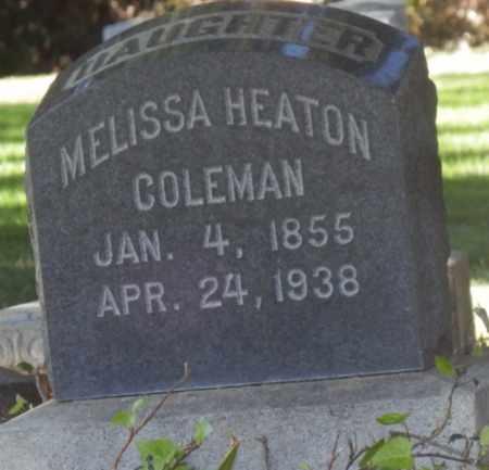 COLEMAN HEATON, MELISSA - Sacramento County, California | MELISSA COLEMAN HEATON - California Gravestone Photos